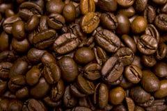 Primo piano dei chicchi di caffè fotografia stock libera da diritti