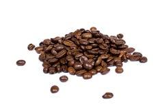 Primo piano dei chicchi di caffè Immagini Stock