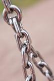 Primo piano dei collegamenti chain d'acciaio Fotografie Stock