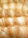Primo piano dei Croissants fotografia stock
