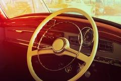 Primo piano dei dettagli delle automobili d'annata Fotografia Stock Libera da Diritti