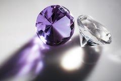 Primo piano dei diamanti Fotografie Stock Libere da Diritti