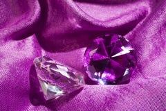 Primo piano dei diamanti Immagini Stock Libere da Diritti