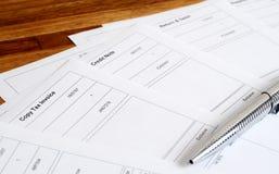 Primo piano dei documenti di affari Fotografia Stock Libera da Diritti
