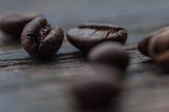Primo piano dei fagioli del caffè Arabica fotografia stock