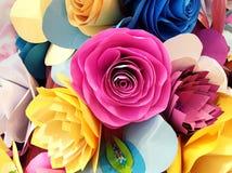 Primo piano dei fiori di carta Fotografie Stock