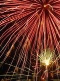 Primo piano dei fuochi d'artificio Fotografie Stock Libere da Diritti