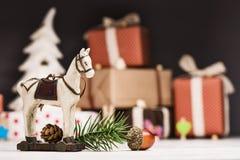 Primo piano dei giocattoli di Natale Fotografie Stock