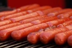 Primo piano dei hot dog Fotografie Stock Libere da Diritti