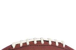 Primo piano dei merletti di football americano Immagine Stock