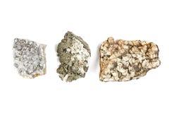 Primo piano dei minerali della roccia Fotografie Stock Libere da Diritti
