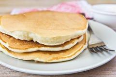 Primo piano dei pancake Immagini Stock Libere da Diritti