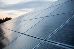 Primo piano dei pannelli solari Immagini Stock Libere da Diritti