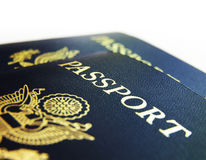 Primo piano dei passaporti degli Stati Uniti Immagine Stock