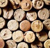 Primo piano dei sugheri usati del vino Immagine Stock Libera da Diritti