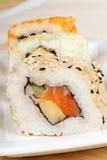 Primo piano dei sushi Fotografie Stock
