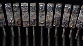 Primo piano dei Typebars Immagini Stock Libere da Diritti