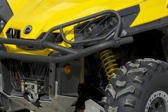 Primo piano del ATV giallo immagine stock libera da diritti