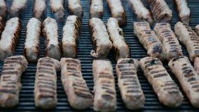 Primo piano del barbecue archivi video