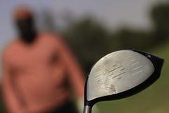 Primo piano del bastone di golf Immagine Stock