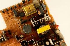 Primo piano del bordo di pc del circuito Fotografia Stock Libera da Diritti