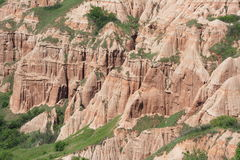 Primo piano del burrone rosso da Sebes, Romania Fotografie Stock