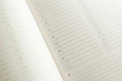 Primo piano del calendario Immagini Stock Libere da Diritti