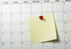 Primo piano del calendario Fotografia Stock