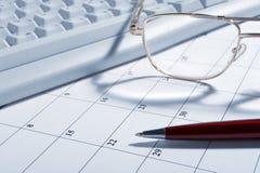 Primo piano del calendario Fotografia Stock Libera da Diritti