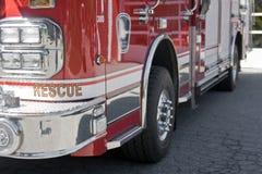 Primo piano del camion dei vigili del fuoco Immagine Stock
