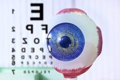 Primo piano del campione dell'occhio di oftalmologia fotografia stock