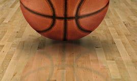 Primo piano del campo da pallacanestro Fotografie Stock Libere da Diritti