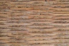 Primo piano del canestro di bambù calafatato con sterco, stile tradizionale tailandese Fotografia Stock Libera da Diritti