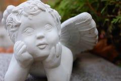 Primo piano del cherubino del giardino immagini stock libere da diritti