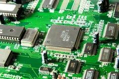 Primo piano del chip di computer Fotografia Stock Libera da Diritti