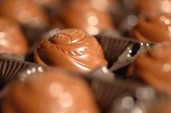 Primo piano del cioccolato Fotografie Stock Libere da Diritti
