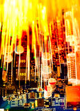 Primo piano del circuito elettronico Fotografia Stock