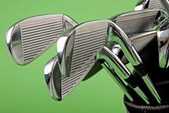 Primo piano del club di golf fotografie stock libere da diritti