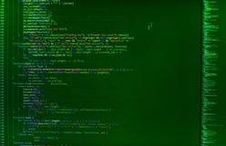 Primo piano del codice di Java Script, di CSS e del HTML immagini stock