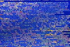Primo piano del codice di Java Script, di CSS e del HTML fotografia stock
