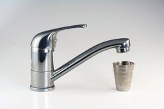 Primo piano del colpetto di acqua Immagini Stock Libere da Diritti