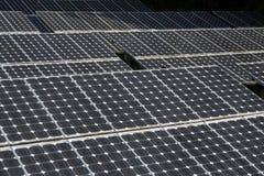 Primo piano del comitato solare fotografia stock