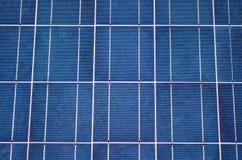 Primo piano del comitato solare immagini stock