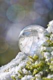 Primo piano del cristallo di quarzo illuminato in sole Fotografia Stock
