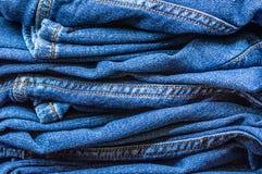 Primo piano del deposito dei jeans immagine stock
