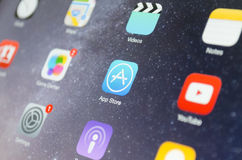 Primo piano del deposito di App Fotografia Stock Libera da Diritti