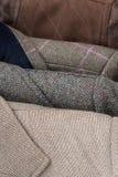 Primo piano del dettaglio dei rivestimenti di tweed Immagini Stock