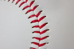 Primo piano del dettaglio di baseball Fotografie Stock Libere da Diritti