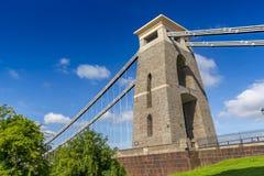 Primo piano del dettaglio di Clifton Suspension Bridge, Bristol, Avon, Inghilterra, Regno Unito Fotografie Stock