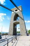 Primo piano del dettaglio di Clifton Suspension Bridge, Bristol, Avon, Inghilterra, Regno Unito Immagini Stock Libere da Diritti